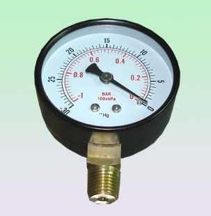 60MM径向真空负压表
