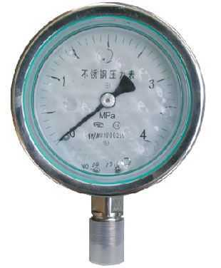 (YTN-100H)不銹鋼耐腐蝕壓力表