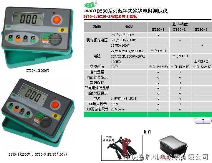 DY30DY系列数字式绝缘电阻测试仪
