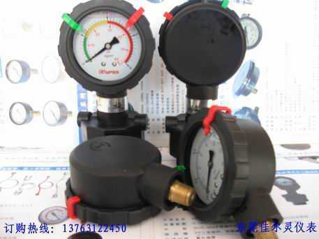 耐酸碱隔膜压力表