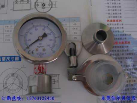 60MM卫生型隔膜压力表