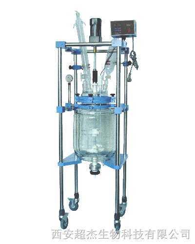 供应CJ全程透明可视双层玻璃反应釜五十升