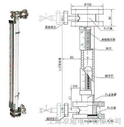(UHZ-58/W)保溫型D電遠傳磁浮子液位計,UHZ-58/W