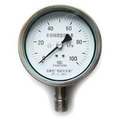 不锈钢膜盒压力表YE--150B