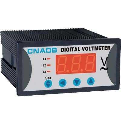 供应数显六电压表(槽形,方形)