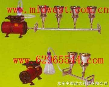 m287707-六聯全不銹鋼全自動溶液過濾器(懸浮物抽濾裝置)