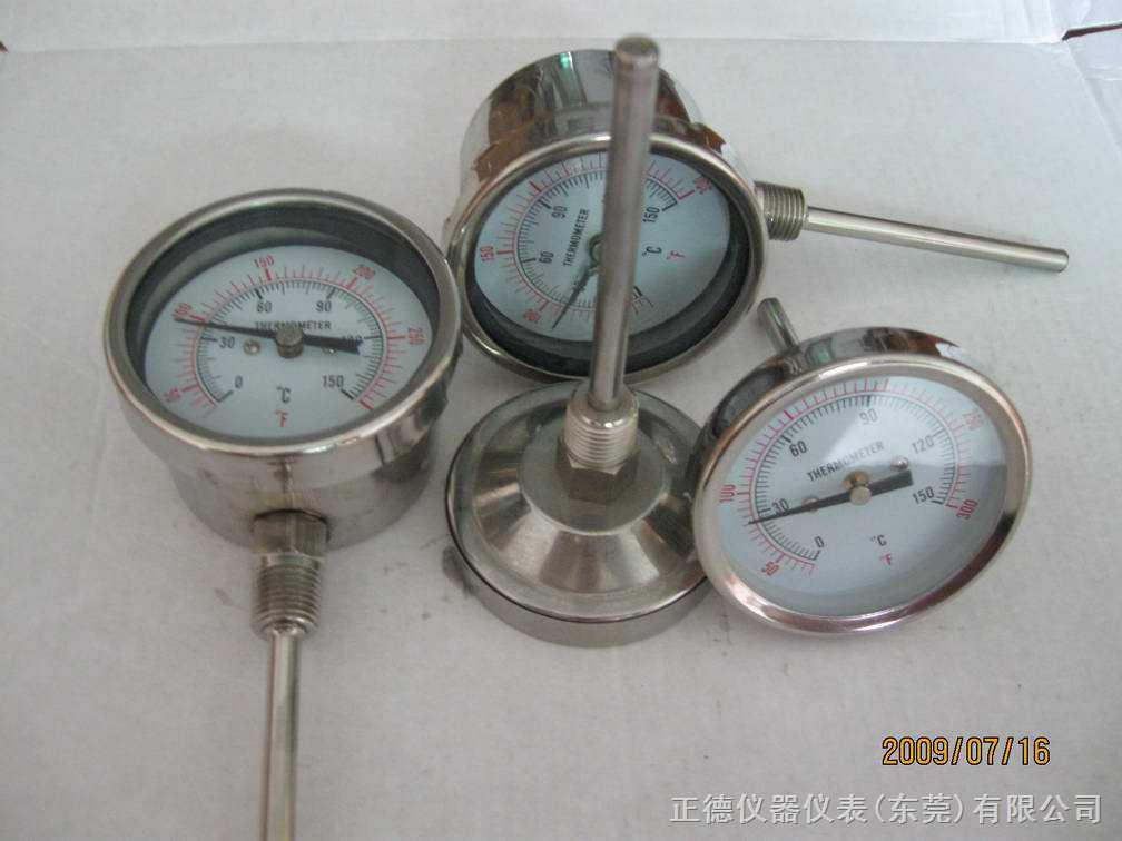 WS-60--全不銹鋼徑向軸向溫度表