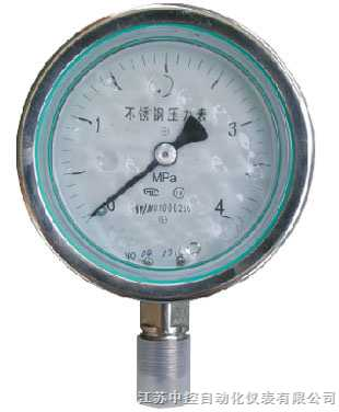 YTN-100H--不銹鋼耐腐蝕壓力表