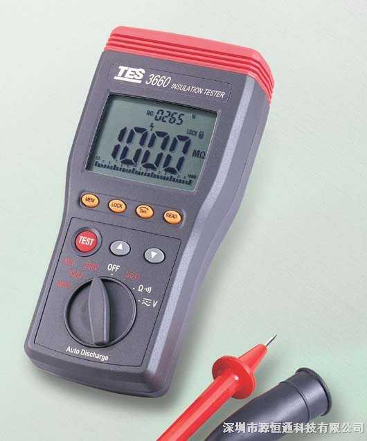 台湾泰仕自动换档绝缘测试仪TES-3660/TES3660
