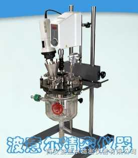 MIXTOR-1L型均质乳化反应釜|均质乳化夹层玻璃反应釜-西安波意尔