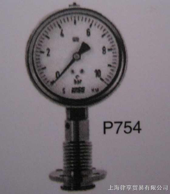 韩国wise-P754-卫生型压力表(散热型)