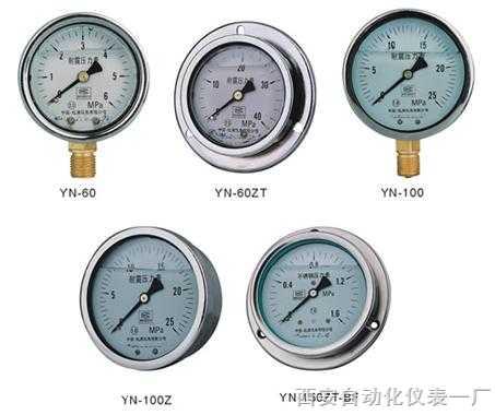 不锈钢耐震压力表 Y-150BF-Z