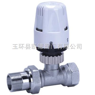 直式散热器自动温控阀,自力式温控阀,3/4寸直式自动温控调节阀