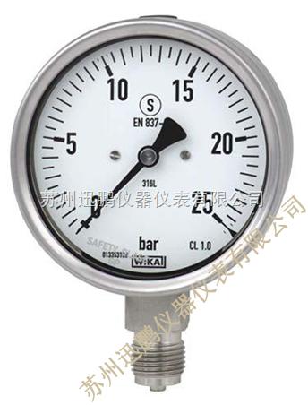德国wika 232.30波登管压力表