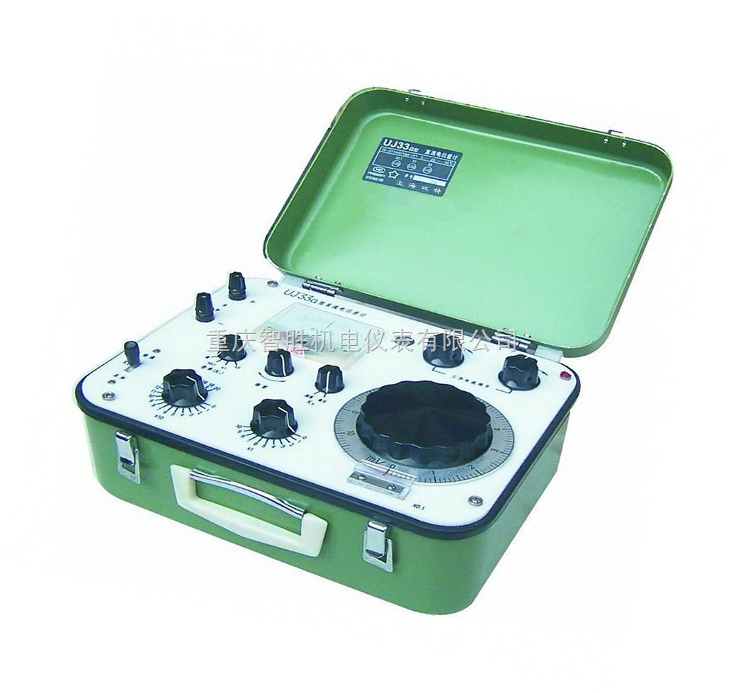 用 途: UJ33a直流电位差计可在实验室、车间及现场测量直流电压,亦可经转换后测量直流电阻、电流、电功率及温度等。可以校验一般电压信号,如热电偶信号也可通过转换开关,经转换后可作电压信号输出,对电子电位差计毫伏表等以电压作测量对象的工业仪表进行校验。 仪器内附晶体管放大指零仪及本厂制造的不饱和型标准电池,其温度系数小、稳定性好。 主要技术性能: 1.