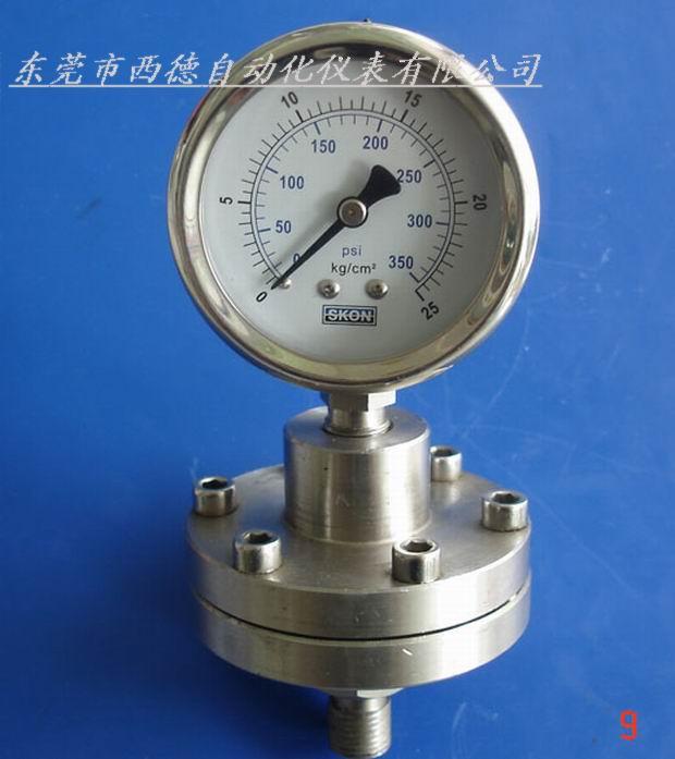 耐腐蚀,耐高温隔膜压力表