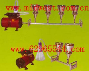 六聯不銹鋼全自動溶液過濾器(懸浮物抽濾裝置)m272536