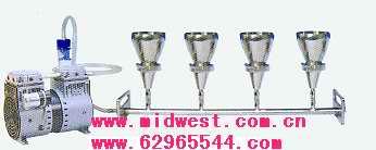 六聯全不銹鋼全自動溶液過濾器(懸浮物抽濾裝置)m289007